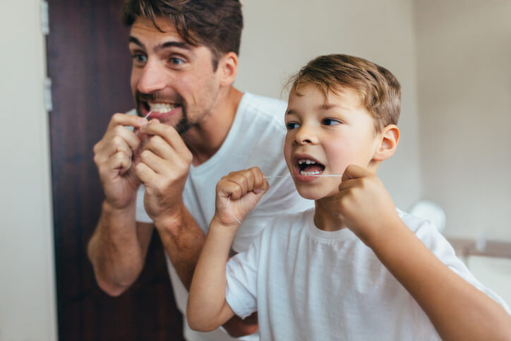 Father & Son Flossing